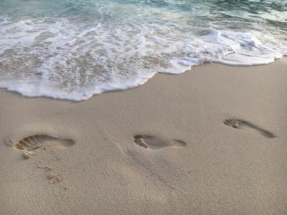 Meine Spuren im Sand